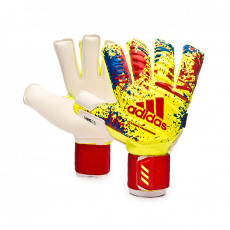 Guanti  adidas Classic Pro FingerSave Solar yellow-Active red-Football blue