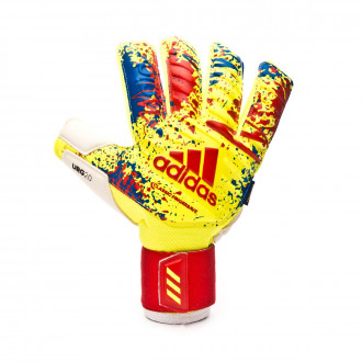 Guante  adidas Classic Pro FingerSave Solar yellow-Active red-Football blue
