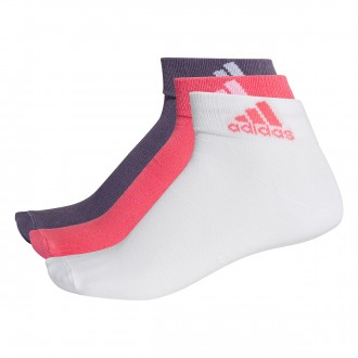 Calcetines  adidas Performance Ankle Thin Pink-White-Purple