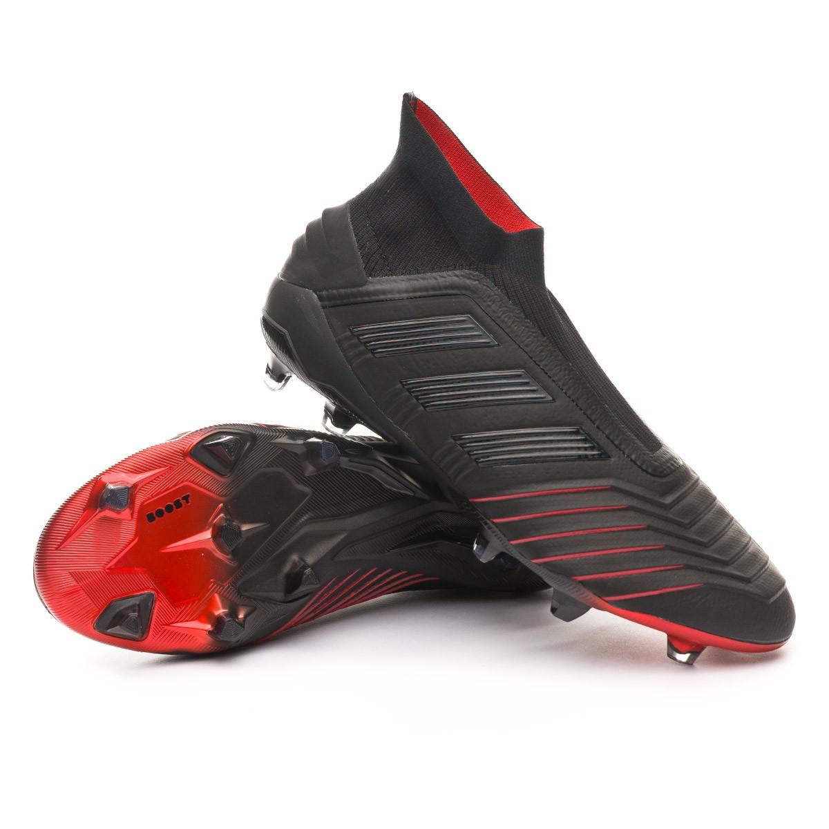 26bf8b22d Football Boots adidas Predator 19+ FG Core black-Core black-Active red -  Football store Fútbol Emotion