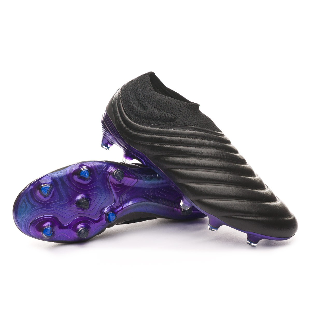 Chaussure de foot adidas Copa 19 FG Core black-Grey six-Bold blue ...