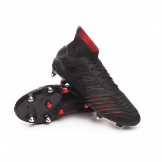 Chaussure de foot  adidas Predator 19.1 SG Core black-Active red