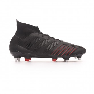 Chuteira adidas Predator 19.1 SG Core black-Active red