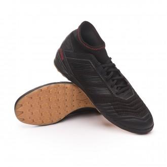 Sapatilha de Futsal  adidas Predator 19.3 IN Core black-Active red