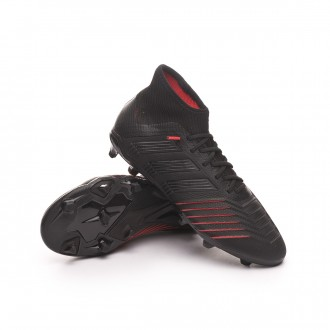Bota  adidas Predator 19.1 FG Niño Core black-Active red