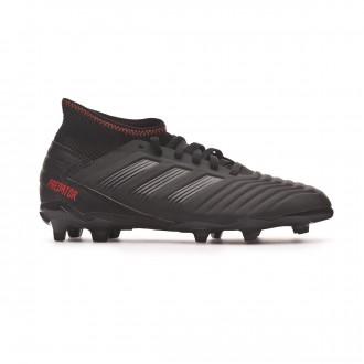 Bota  adidas Predator 19.3 FG Niño Core black-Active red