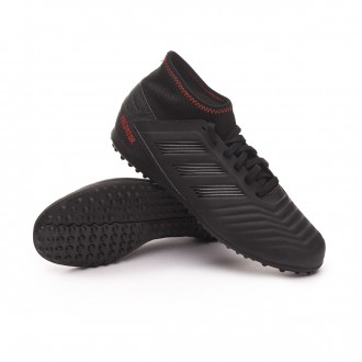 Zapatilla  adidas Predator 19.3 Turf Niño Core black-Active red