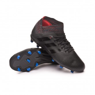 Bota  adidas Nemeziz 18.3 FG Niño Core black-Football blue-Active red