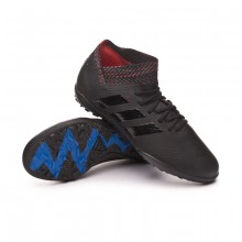 Zapatilla Nemeziz 18.3 Turf Niño Core black-Football blue