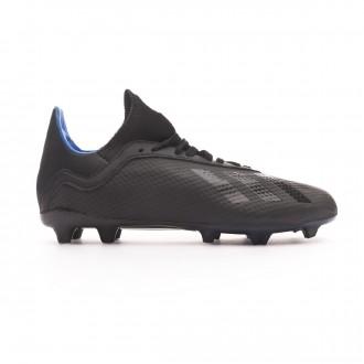 Chuteira adidas X 18.3 FG Crianças Core black-Bold blue