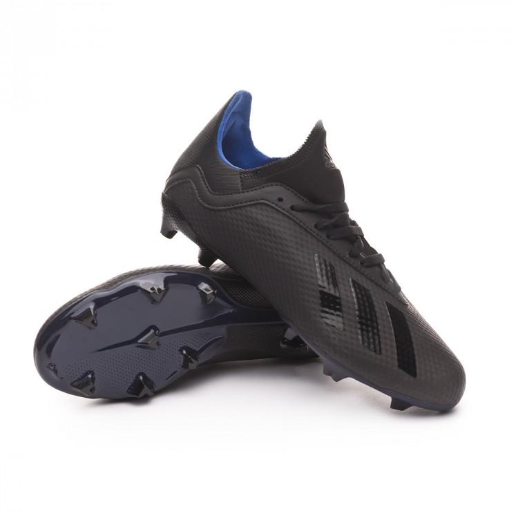 Zapatos de fútbol adidas X 18.3 FG Niño Core black-Bold blue ... c30e11b9c1619