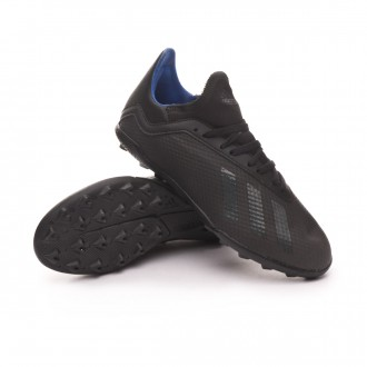 Zapatilla  adidas X 18.3 Turf Niño Core black-Bold blue