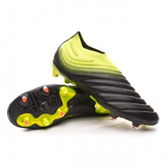 Chuteira  adidas Copa 19+ FG Core black-Solar yellow-Core black