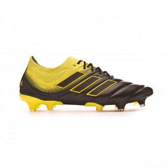 Chaussure de foot  adidas Copa 19.1 FG Core black-Solar yellow-Core black