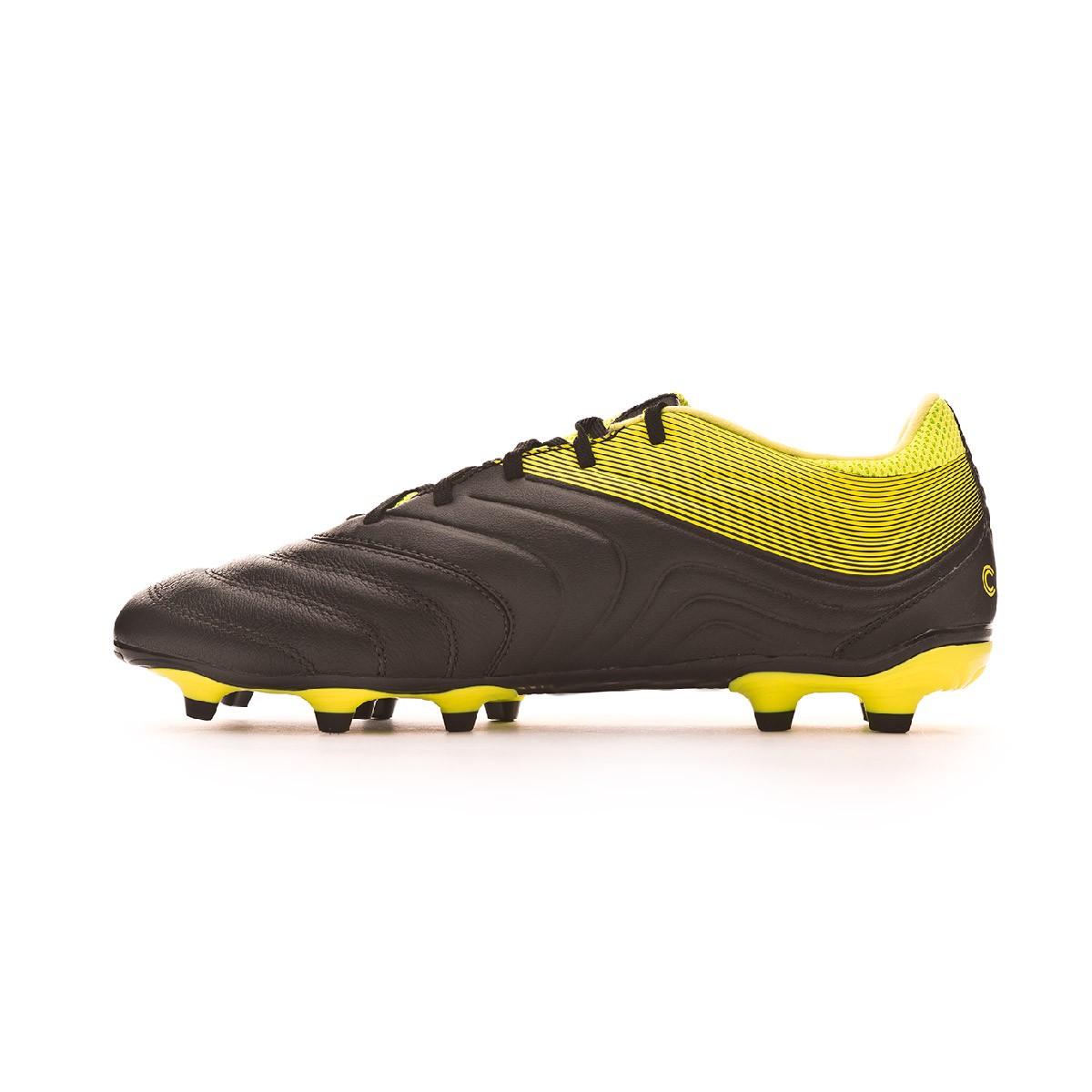 b40e0b6b6ccd6 Bota de fútbol adidas Copa 19.3 FG Core black-Solar yellow-Core black -  Tienda de fútbol Fútbol Emotion