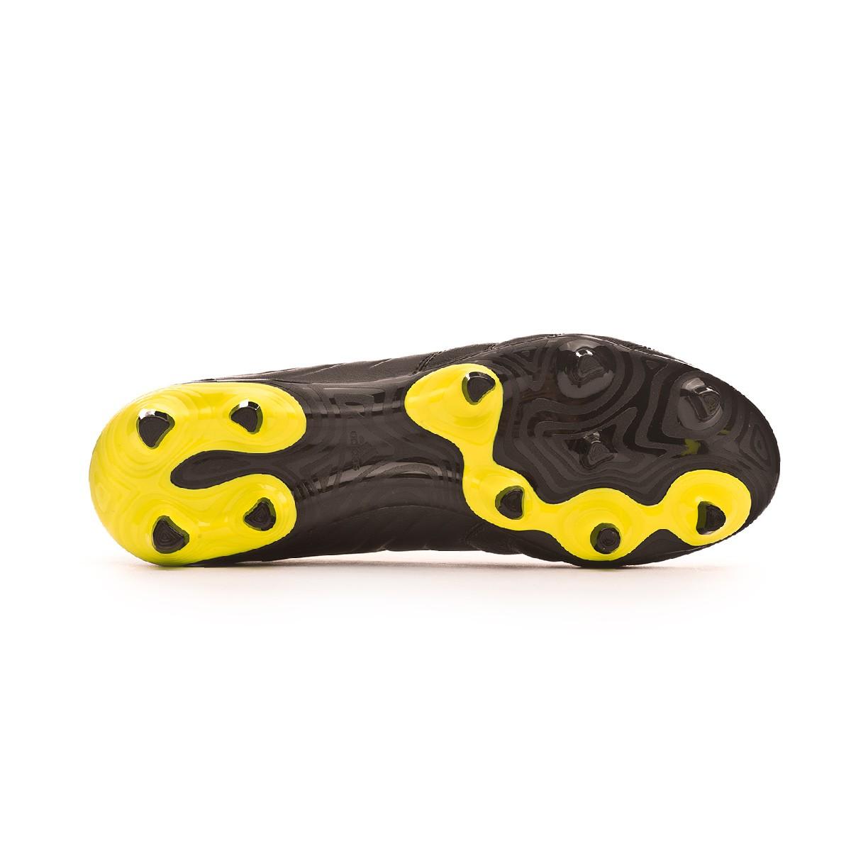 11670b21305b3 Zapatos de fútbol adidas Copa 19.3 FG Core black-Solar yellow-Core black -  Tienda de fútbol Fútbol Emotion