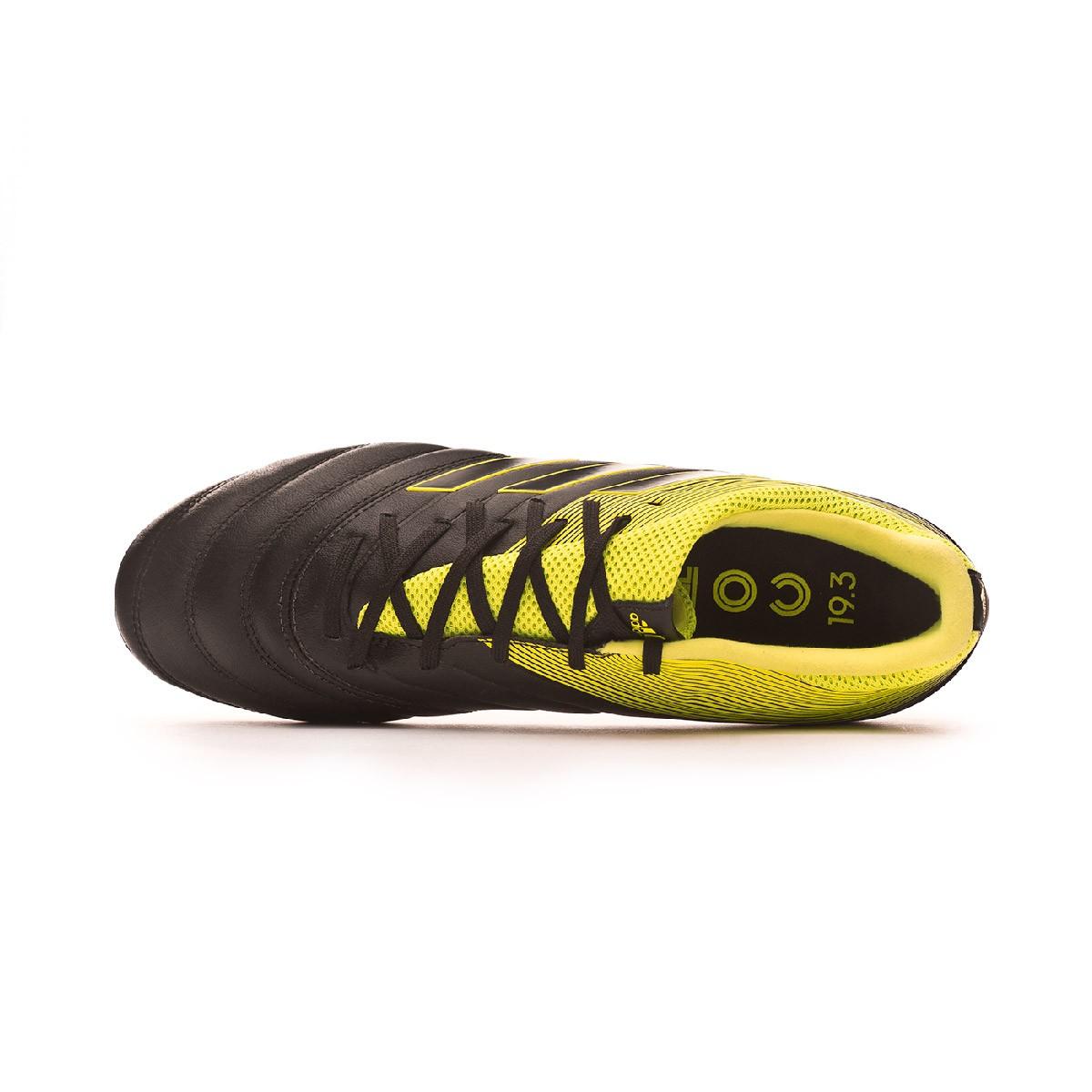 8084132b96f6e Zapatos de fútbol adidas Copa 19.3 AG Core black-Solar yellow-Core black -  Tienda de fútbol Fútbol Emotion