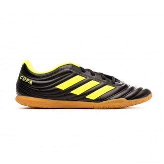 Sapatilha de Futsal adidas Copa 19.4 IN Core black-Solar yellow-Core black