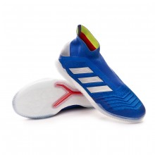 Sapatilha de Futsal Predator Tango 19+ IN Bold blue-Silver metallic-Active red