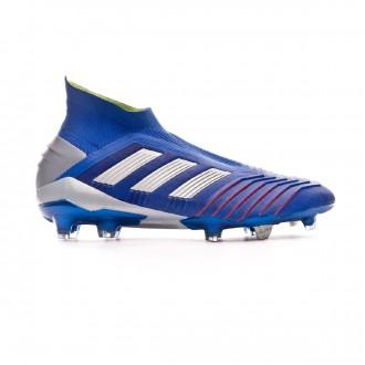 Chuteira adidas Predator 19+ FG Bold blue-Silver metallic-Active red