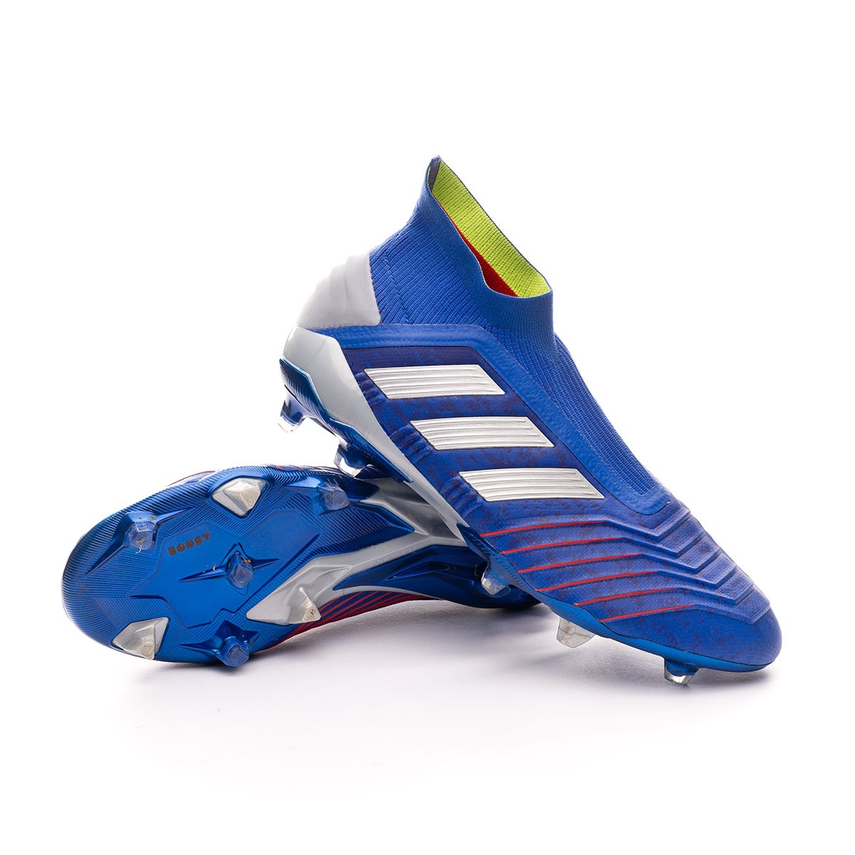 Tanzania Vientre taiko idioma  Football Boots adidas Predator 19+ FG Bold blue-Silver metallic-Active red  - Football store Fútbol Emotion