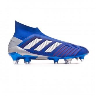 Chuteira  adidas Predator 19+ SG Bold blue-Silver metallic-Active red