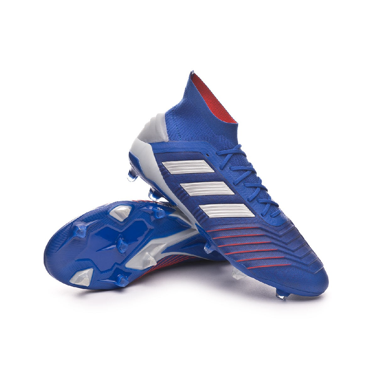 12e51988915 adidas Predator 19.1 FG Football Boots. Bold blue-Silver metallic-Football  ...