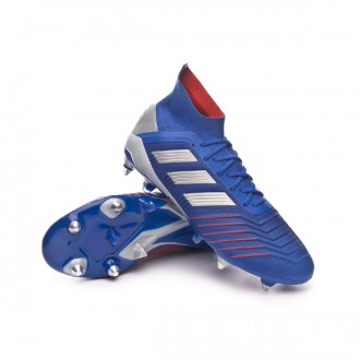 Chaussure de foot  adidas Predator 19.1 SG Bold blue-Silver metallic-Football blue