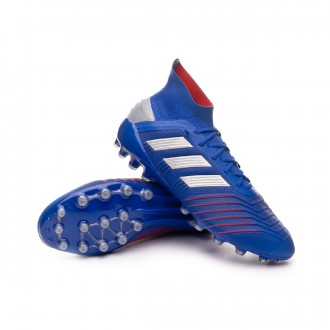 sports shoes 85355 73a68 Bota adidas Predator 19.1 AG Bold blue-Silver metallic-Football blue