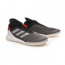 Zapatilla Predator Tango 19.1 TR Dark grey heather-Matte silver-Active red