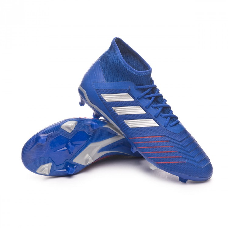 facil de manejar Min puño  Football Boots adidas Predator 19.2 FG Bold blue-Silver metallic-Football  blue - Football store Fútbol Emotion
