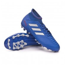 Chuteira Predator 19.3 AG Bold blue-Silver metallic-Active red