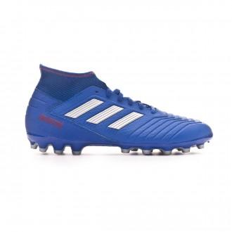 Chuteira adidas Predator 19.3 AG Bold blue-Silver metallic-Active red