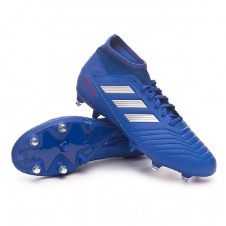 Chaussure de foot  adidas Predator 19.3 SG Bold blue-Silver metallic-Active red