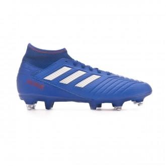 Chuteira  adidas Predator 19.3 SG Bold blue-Silver metallic-Active red