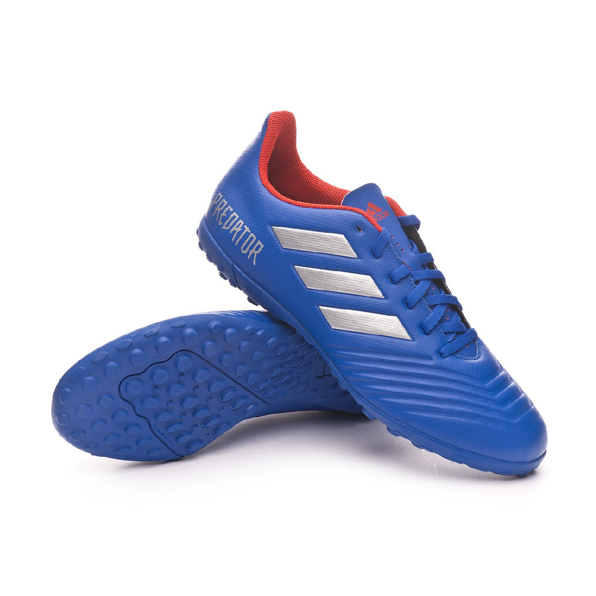 incompleto Parque jurásico lunes  Football Boot adidas Predator Tango 19.4 Turf Bold blue-Silver  metallic-Active red - Football store Fútbol Emotion