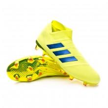 Bota Nemeziz 18+ FG Solar yellow-Football blue-Active red