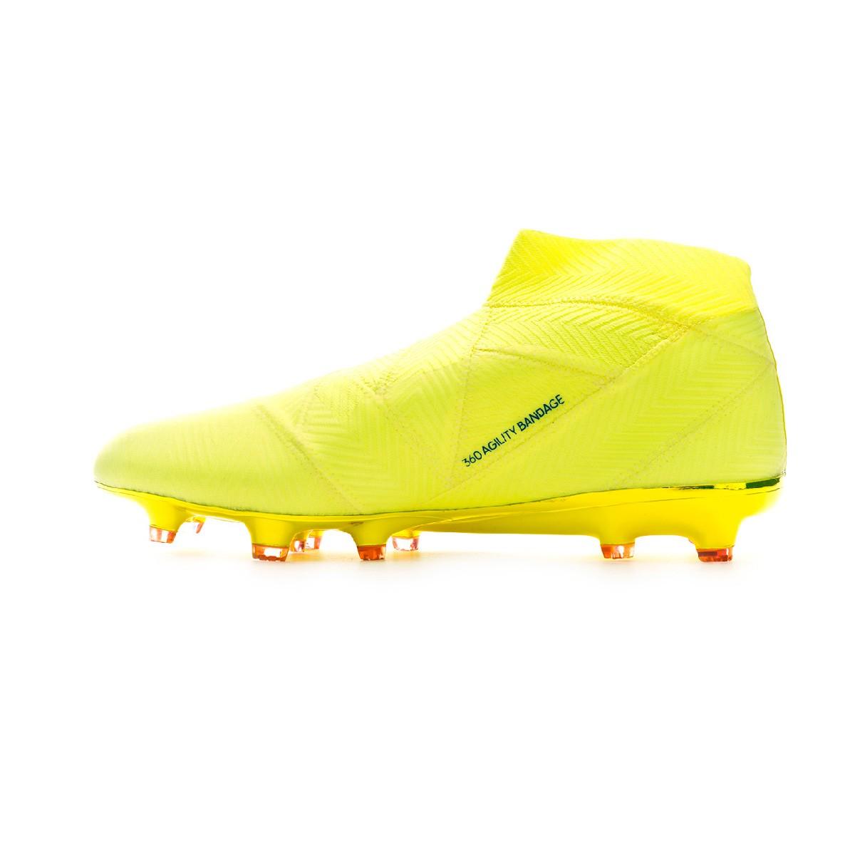 6e5868be943b9 Scarpe adidas Nemeziz 18+ FG Solar yellow-Football blue-Active red -  Negozio di calcio Fútbol Emotion