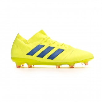 Chuteira adidas Nemeziz 18.1 FG Solar yellow-Football blue-Active red