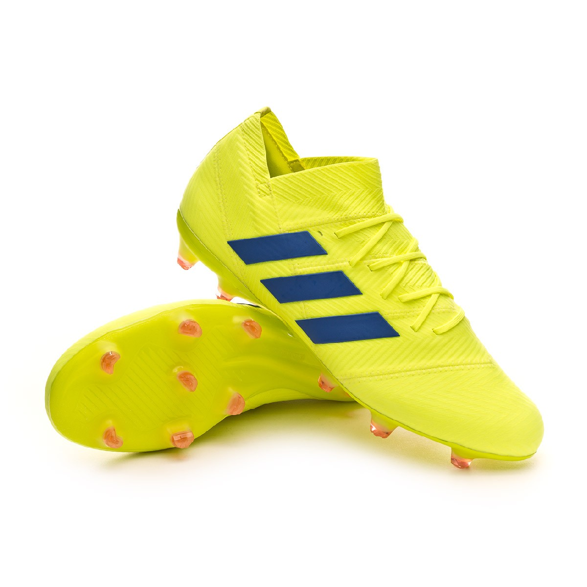 7172a25c51e0ea Boot adidas Nemeziz 18.1 FG Solar yellow-Football blue-Active red ...