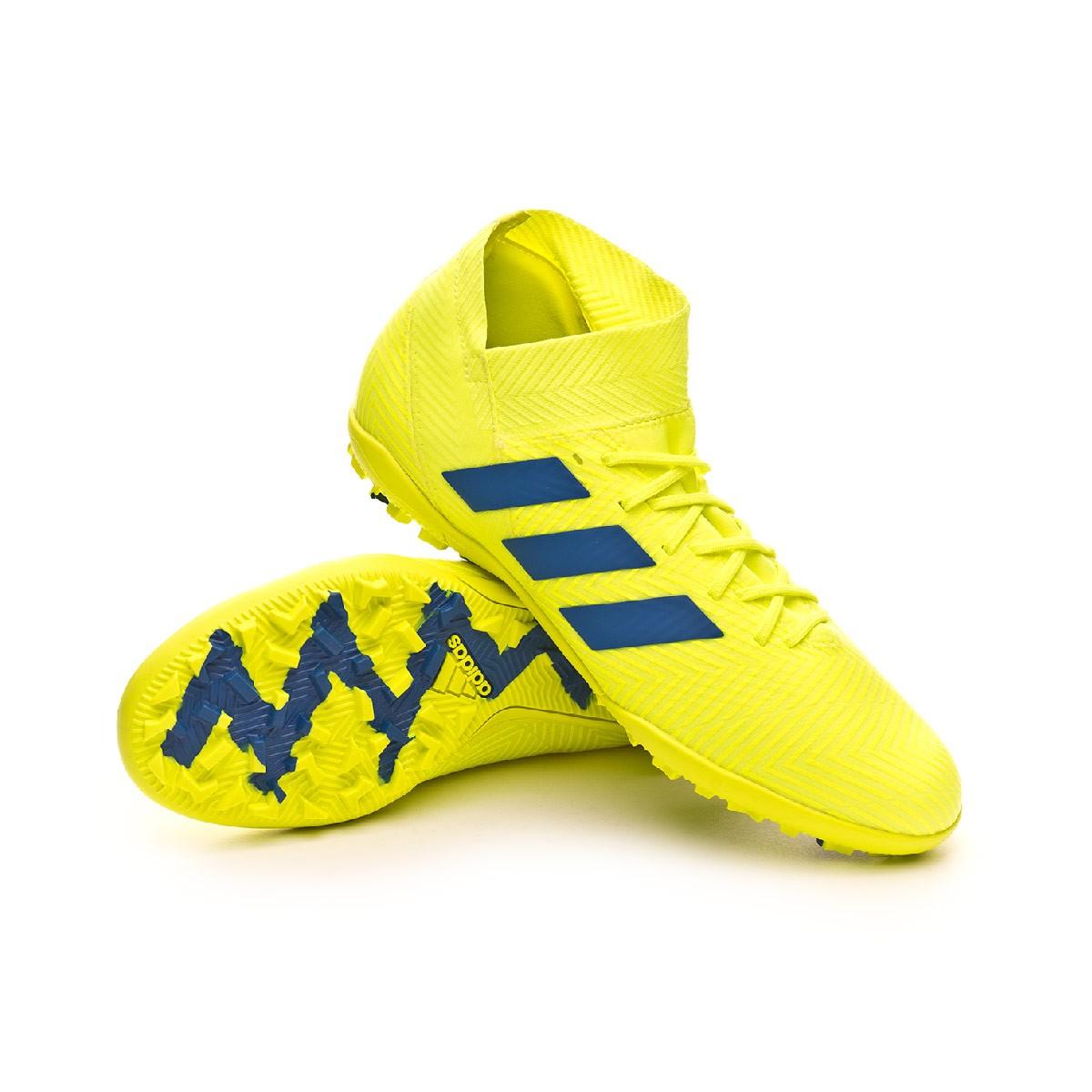 12e07d950bf3 Football Boot adidas Nemeziz Tango 18.3 Turf Solar yellow-Football  blue-Active red - Football store Fútbol Emotion