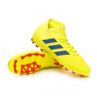 Boot  adidas Nemeziz 18.3 AG Solar yellow-Football blue-Active red