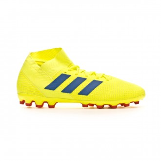 Chuteira adidas Nemeziz 18.3 AG Solar yellow-Football blue-Active red