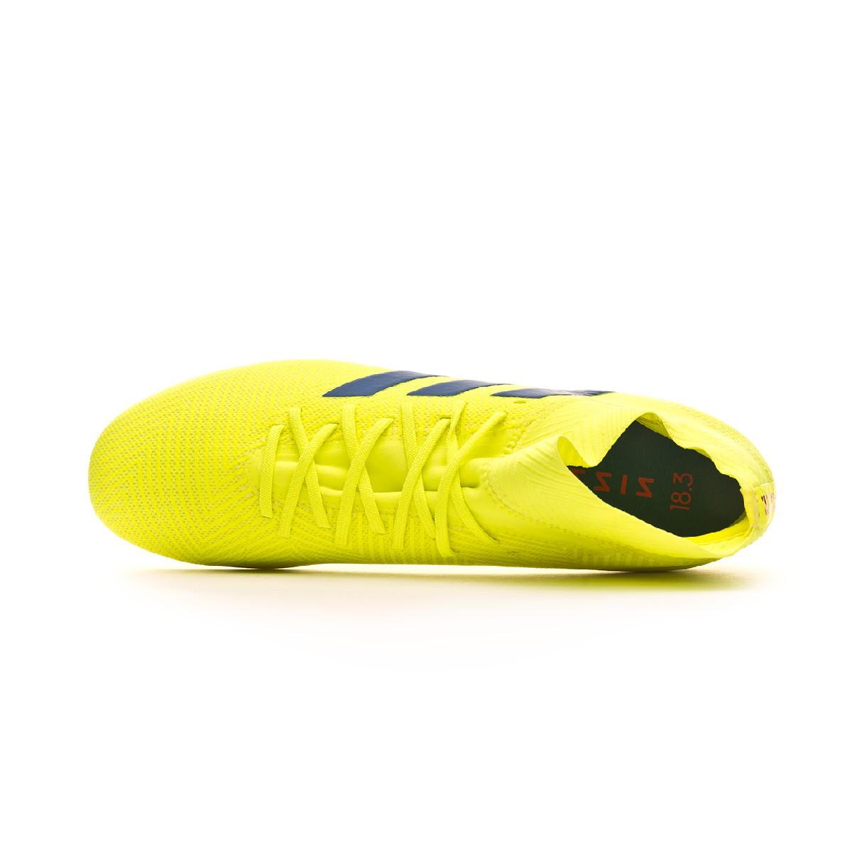 d49bf6eb6ac Football Boots adidas Nemeziz 18.3 AG Solar yellow-Football blue-Active red  - Tienda de fútbol Fútbol Emotion