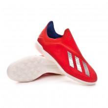 Zapatilla X Tango 18+ Turf Active red-Silver metallic-Bold blue