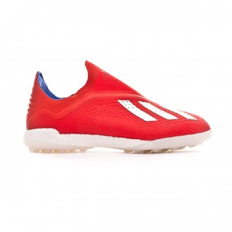 Football Boot  adidas X Tango 18+ Turf Active red-Silver metallic-Bold blue