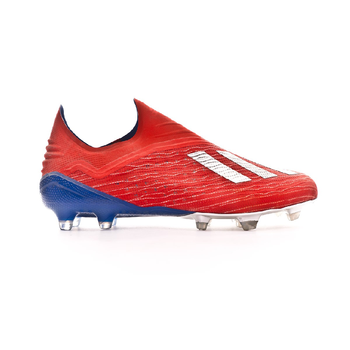 the latest b6832 f2c10 Boot adidas X 18+ FG Active red-Silver metallic-Bold blue - Football store  Fútbol Emotion