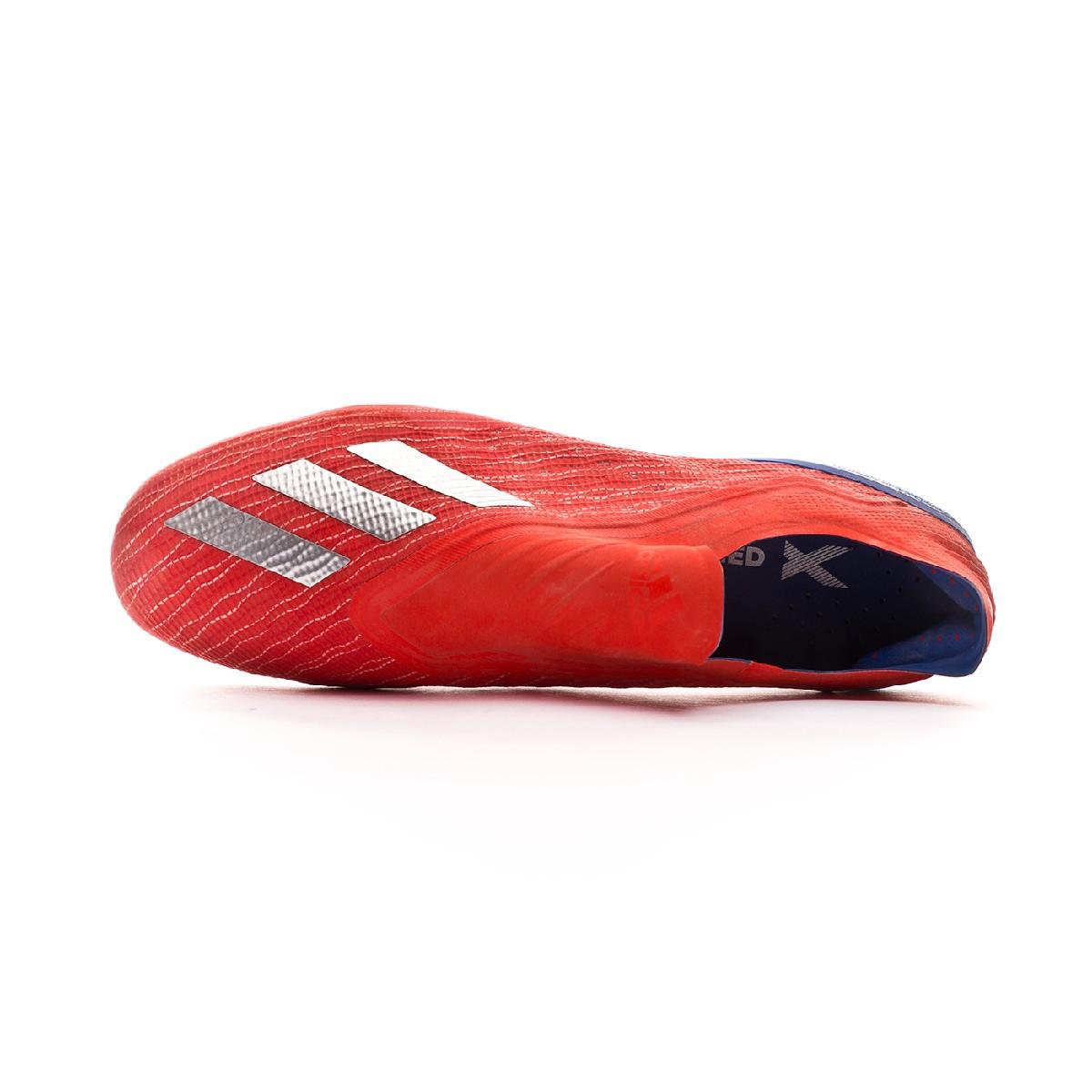 1b07031c5 Football Boots adidas X 18+ FG Active red-Silver metallic-Bold blue -  Football store Fútbol Emotion