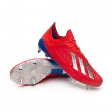 Football Boots X 18.1 SG Active red-Silver metallic-Bold blue