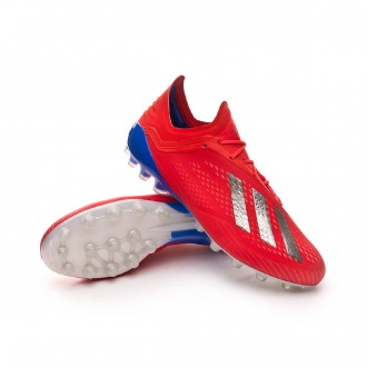 Chuteira  adidas X 18.1 AG Active red-Silver metallic-Bold blue